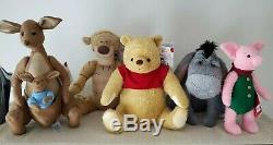 Bnwt Lot De 5 Christopher Robin Disney Pooh Tigrou Bourriquet Porcinet Roo En Peluche Kanga