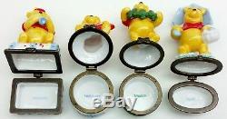 Boîte De Bibelots En Porcelaine Disney Winnie L'ourson, Étalage De Calendrier Usagé