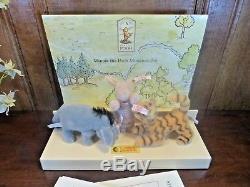 Boxed Steiff Winnie Le Pooh Set Miniature Eeyore / Piglet / Tigger Ltd Edn