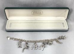 Bracelet À Breloques Disney Authentic Sterling Winnie L'ourson Avec 6 Breloques - 7 1/2
