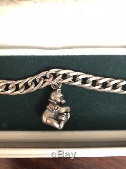 Bracelet À Breloques En Argent Sterling Disney Winnie L'ourson (édition Limitée)