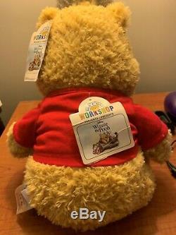 Build-a-bear 2019 Winnie L'ourson En Peluche 6-1 Rouge Son T-shirt Des Tn-o À La Retraite