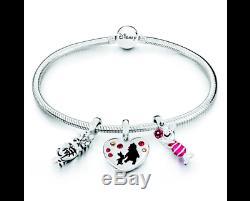 Chamilia Disney Winnie L'ourson Breloques Et Bracelet Cadeau Ensemble Authentique Et Nouveau