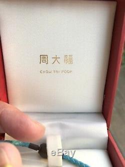 Chow Tai Fook Winnie L'ourson 24k 999 Bracelet À Breloques En Or