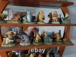 Classique Disney Lenox Winnie The Pooh Complete Thimble Collection Withmirror Shelf