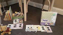 Classique Winnie L'ourson Nursery Collection (art Sur Toile Personnalisé Inclus)