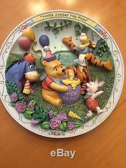 Collection D'assiettes Winnie L'ourson Et Amis Bradford Exchange 3-d