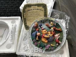 Collection De Plaques 3d De Winnie L'ourson Et Ses Amis - Bradford Exchange