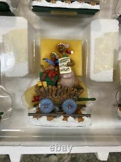 Danbury Mint Disney Eeyore Express Train De Noël Train Rabbit Owl Tigger Roo