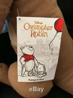 Disney Christopher Robin Winnie L'ourson En Direct Et D'action Kanga Roo En Peluche Régl.nouv