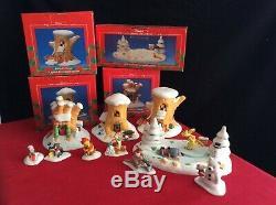 Disney Collection De Noël Winnie L'ourson 100 Acre Wood Village