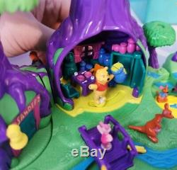 Disney Collection Minuscule Polly Pocket 100% Complet Winnie L'ourson Bluebird