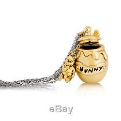Disney Collier Plaqué Or Winnie L'ourson Hunny Pot