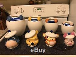Disney Direct Winnie L'ourson Peek Un Ensemble De Pots À Biscuits Boo! Set Complet, Rare