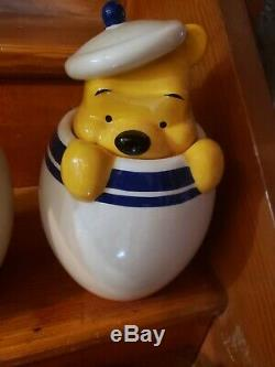 Disney Direct Winnie L'ourson Porcinet Tigrou Bourriquet Peek Cookie Jar Set Canister