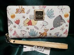 Disney Dooney Bourke Winnie L'ourson Et Pals Wallet New Nwt