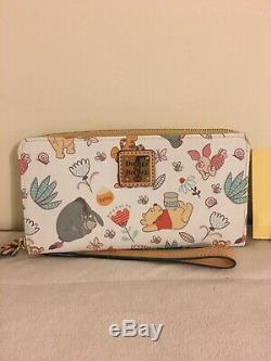 Disney Dooney & Bourke Winnie L'ourson Tigrou Bourriquet Wallet Wristlet & Epla