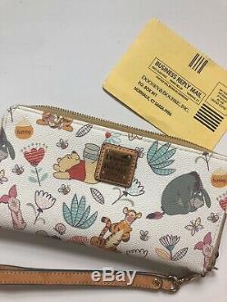 Disney Dooney & Bourke Winnie L'ourson Wallet Wrislet Tigrou Bourriquet W Carte