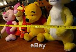 Disney Jumbo Winnie Pooh Lapin Tigrou Porcinet Peluche Mattel Lot Très Grand 20+