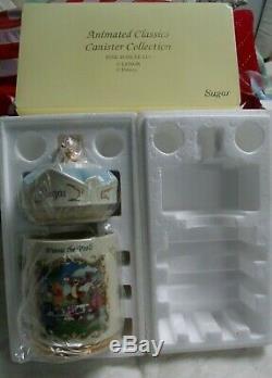 Disney Lenox Winnie L'ourson Porcelaine Fine Sucre Classique 1997 Canister Animé