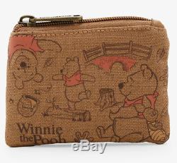Disney Loungefly Classique Winnie L'ourson Abeilles Satchel Sac À Bandoulière Et Porte-monnaie