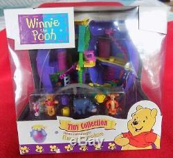 Disney Polly Pocket 1998 Winnie L'ourson Hunny Pot 100% Complet Neuf Dans La Boîte
