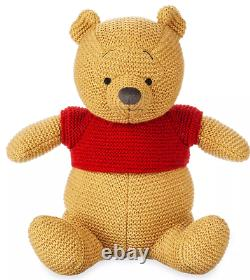 Disney Store Parcs Winnie L'ourson Cozy Knits Limited Release 11 Plush Tn-o