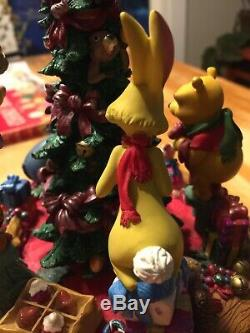 Disney Store Winnie L'ourson Et Ses Amis Boîte À Musique D'arbre De Noël Figurine