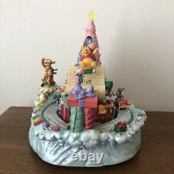 Disney Store Winnie The Pooh Music Box Christmas Wish List Piglet Musical