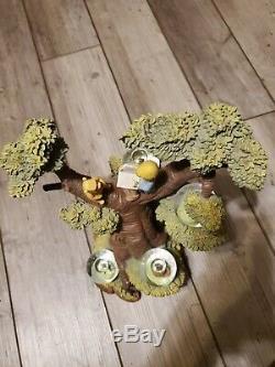 Disney Winnie L'ourson Avec Plusieurs Arbres Mini Neige Globes 75e Anniversaire
