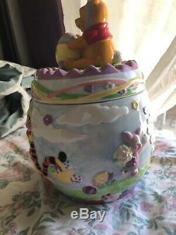 Disney Winnie L'ourson Cookie Jar Avec Bourriquet, Tigrou Et Porcinet