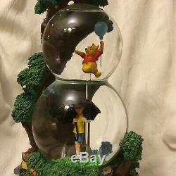Disney Winnie L'ourson Grande Aventure Musicale Box Figurines Double Snowglobe