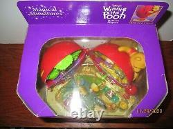 Disney Winnie L'ourson Miniatures Magiques Ballon Rouge Playset Vintage Bnib Nrfb
