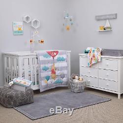 Disney Winnie L'ourson Premier Meilleur Ami 4 Piece Crib Set Nursery Literie, Aqua /