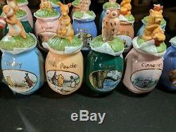 Disney Winnie L'ourson Spice Jars, Un Ensemble De 22