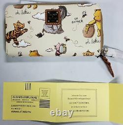 Disney Winnie Le Pooh Dooney & Bourke Wristlet Wallet Nouveau Avec Des Étiquettes