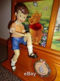 Disney Winnie The Pooh Bradford Exchange Affichage Christopher Robin Nouvelle Condition