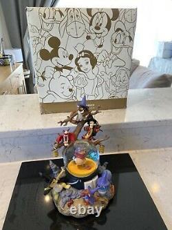 Disney Winnie The Pooh Grand Globe De Snow Globe Rare Rare Globe
