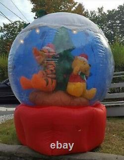Disney Winnie The Pooh Noël Gonflable Snowglobe Gemmy