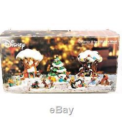 Disney'christmas In The 100 Acre Wood 'village Éclairé De 8 Pièces Winnie L'ourson