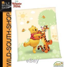 Disneys Winnie Le Pooh Bébé Deck Fleecedecke Kuscheldecke 130x160 Neu Herding