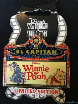 Dsf Disney Winnie L'ourson Marquee El Capitan Le 500 Pin Bourriquet Porcinet Pooh