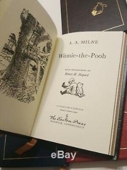 Easton Press A. A. Milne Leather Book Set Winnie L'ourson 1985 Collectionneurs Vintage