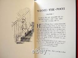 Ensemble Complet Winnie-the-pooh Première Édition Fac-similés A. A. Milne Avec Vestes De Poussière