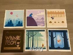 Eric Tan Winnie The Pooh Art Print Poster Set Rare Nt Mondo Disney Epcot