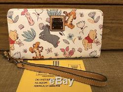 Euc Disney Dooney & Bourke Winnie L'ourson Wallet Wrislet Tigrou Bourriquet & Epla
