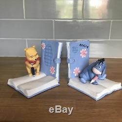 Extrêmement Rare! Disney Winnie L'ourson Avec Bourriquet Set Figurine Statue Bookends