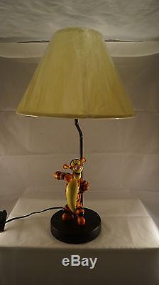 Extrêmement Rare! Statue De Lampe De Figurine Tigger Winnie L'ourson Walt Disney