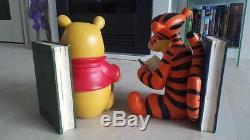 Extrêmement Rare! Walt Disney Winnie L'oneuf Avec Les Statuts Tigger Bookends Set