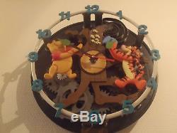 Extrêmement Rare! Walt Disney Winnie The Pooh Tigger Et Piglet Big Wall Clock